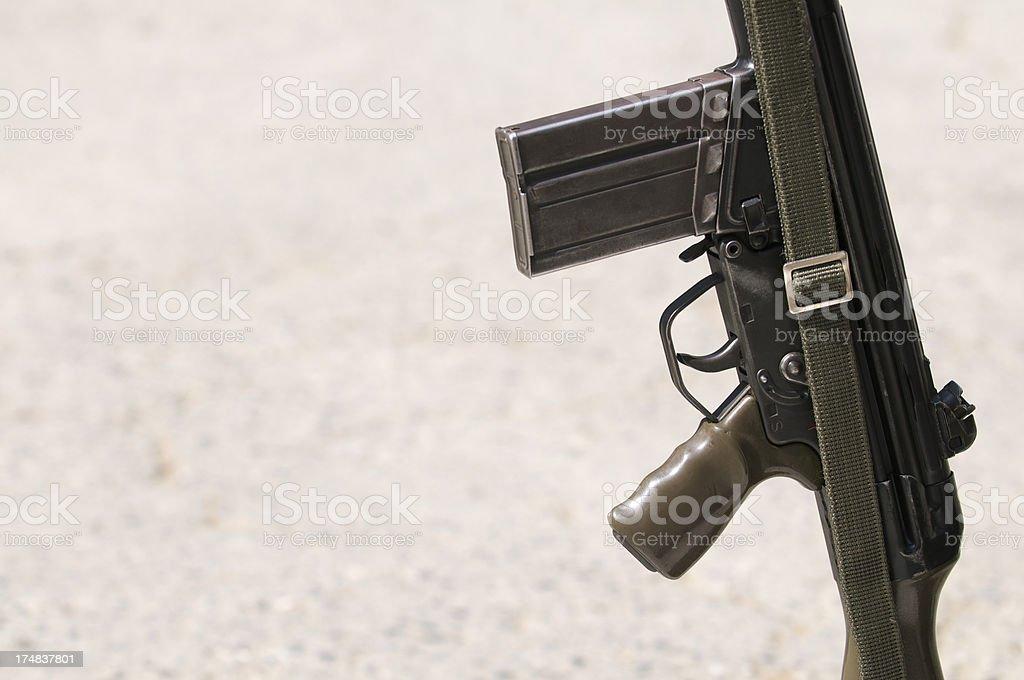 Military Rifle Gun Trigger Close-Up royalty-free stock photo