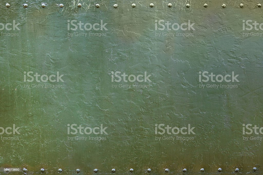military riveted metal plate 1 stock photo