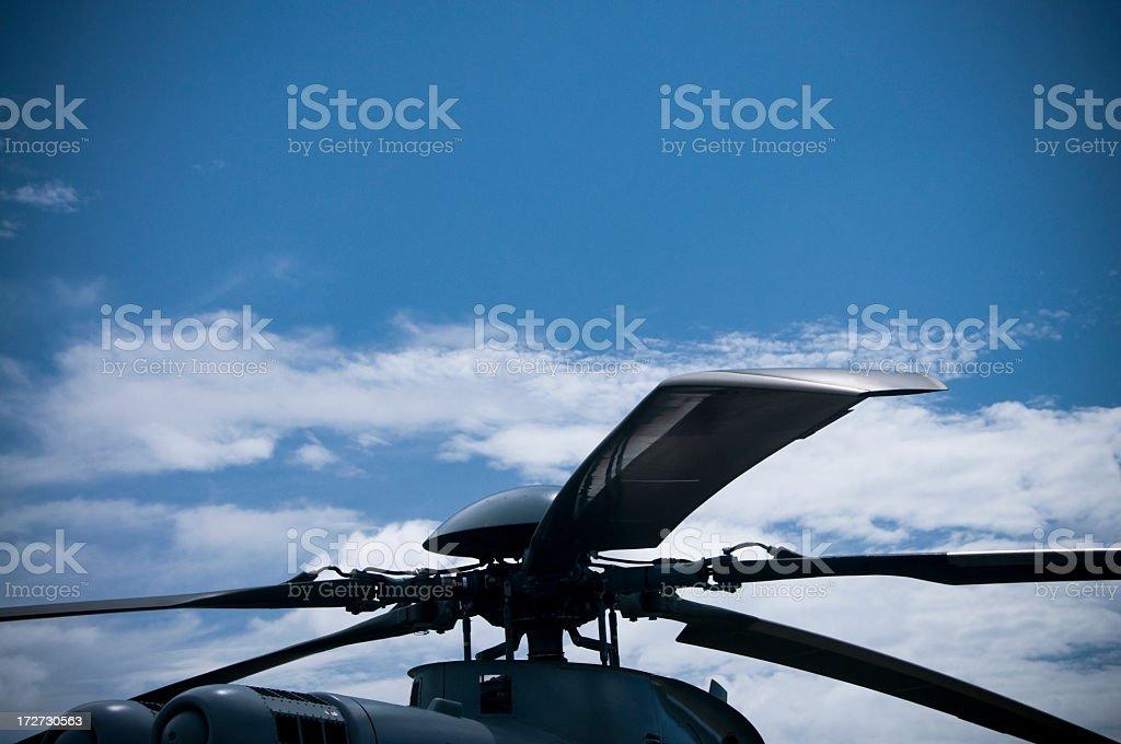 Military Rotors stock photo