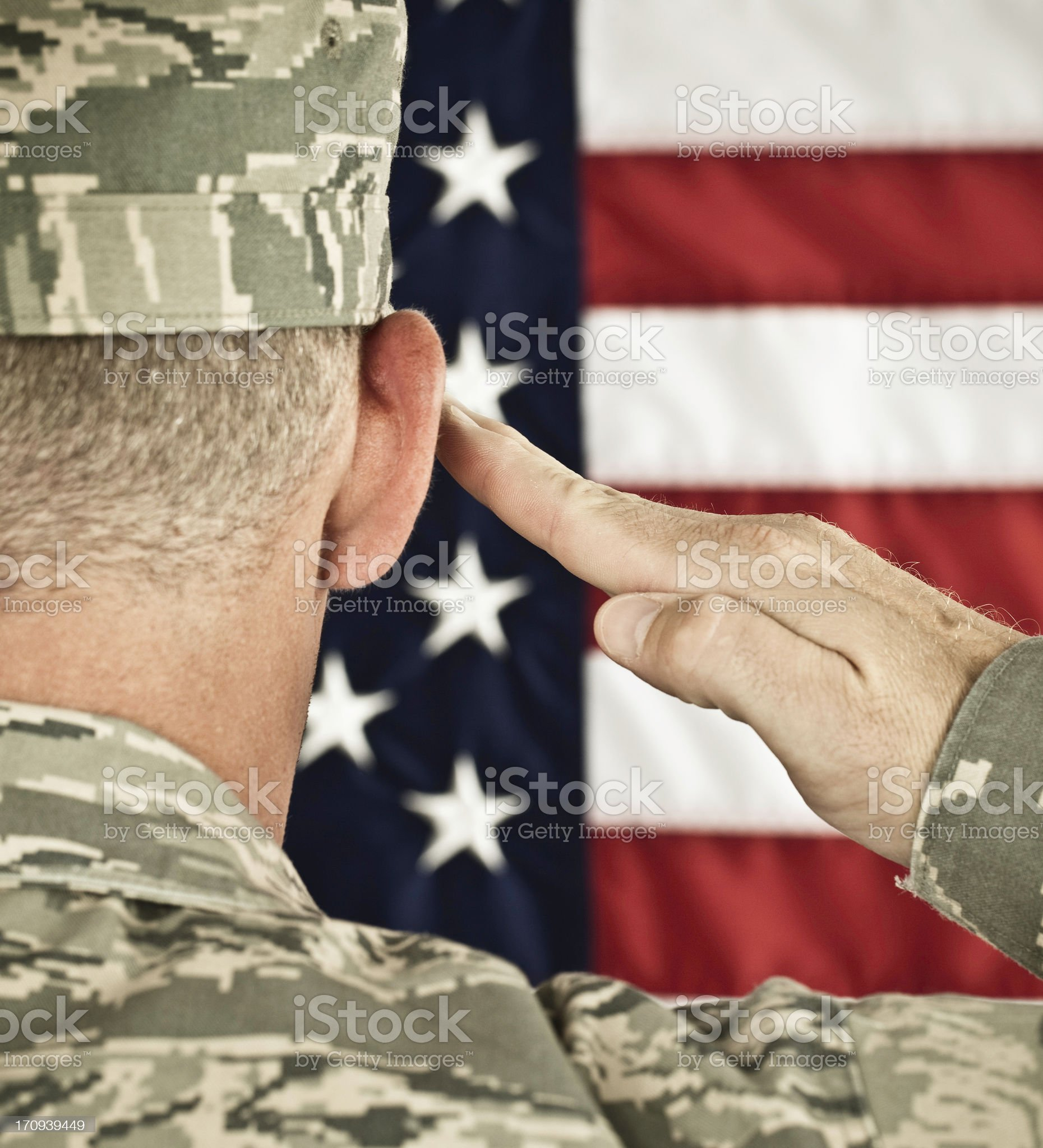 Military Salute Newest Uniform royalty-free stock photo