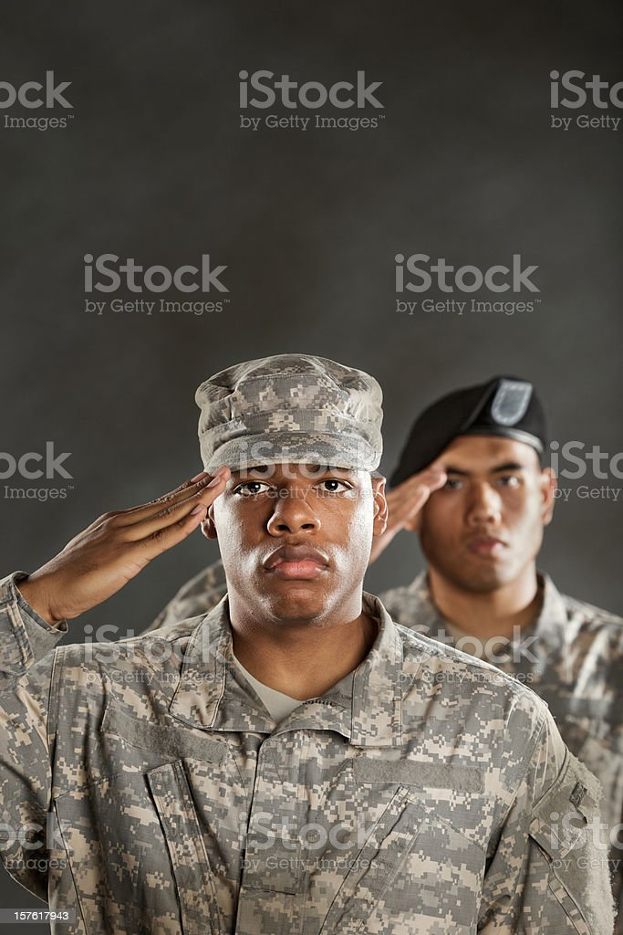 military salute royalty-free stock photo