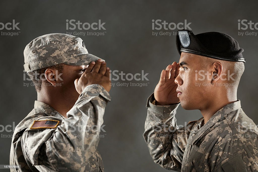 military salute stock photo