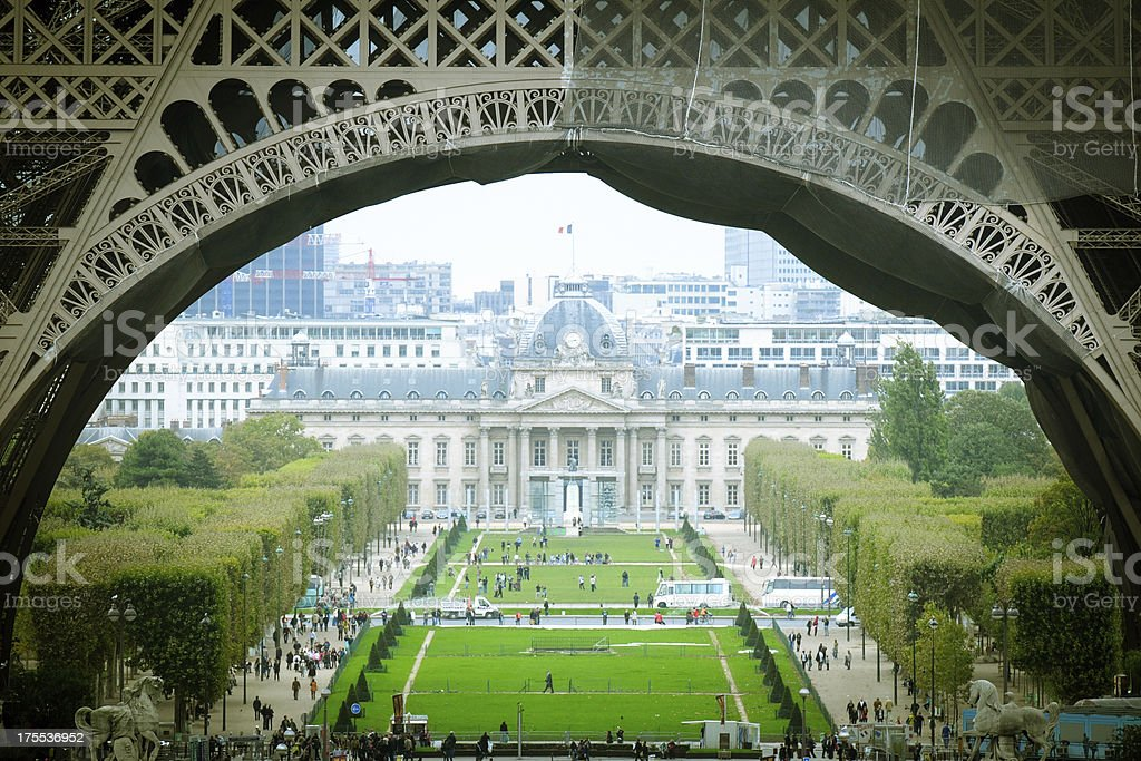 Ecole Militaire and Champ-de-Mars - XLarge stock photo
