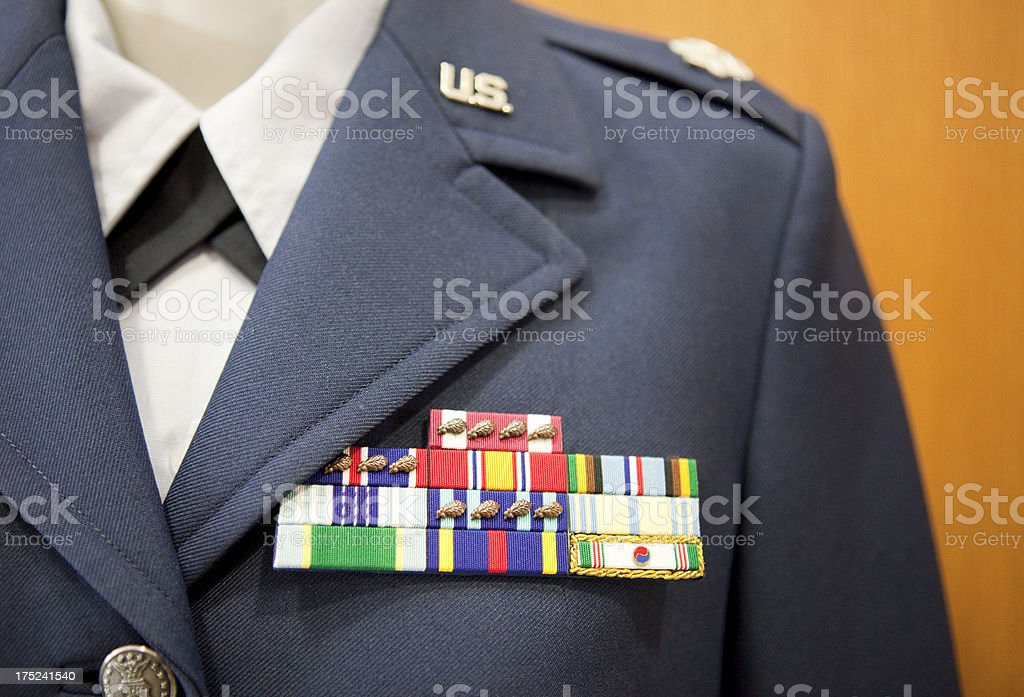 US Military Service Ribbons royalty-free stock photo