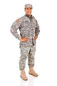 military serviceman posing