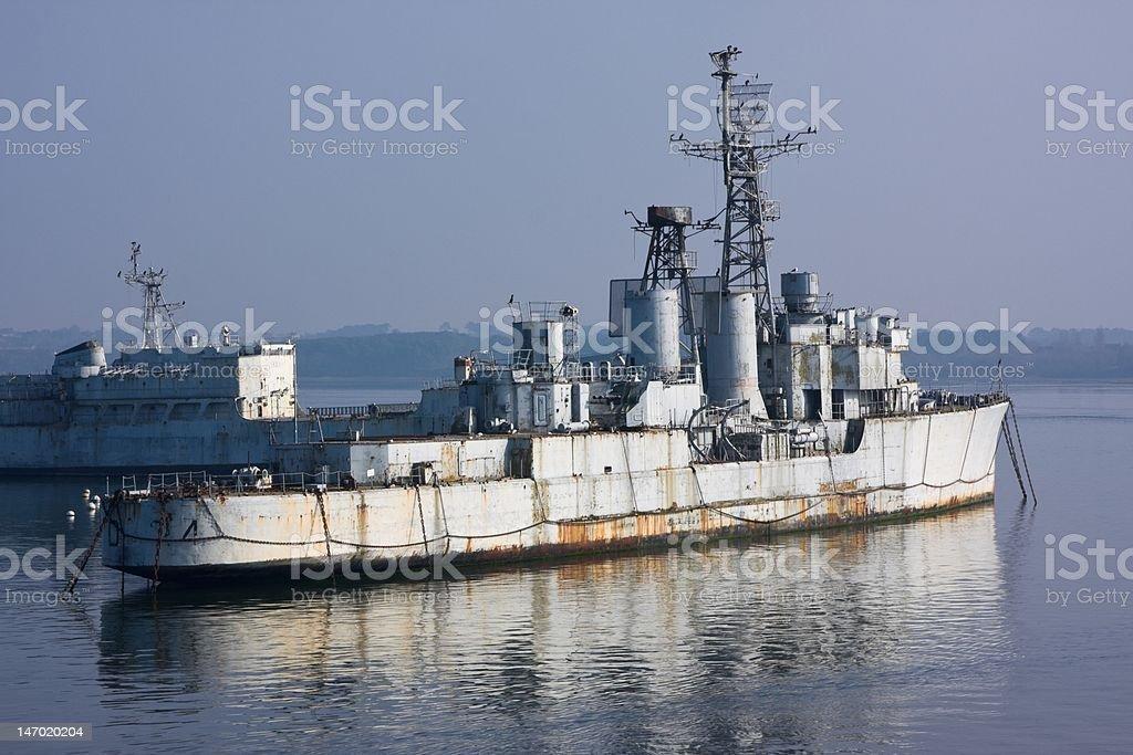 Military shipwreck royalty-free stock photo