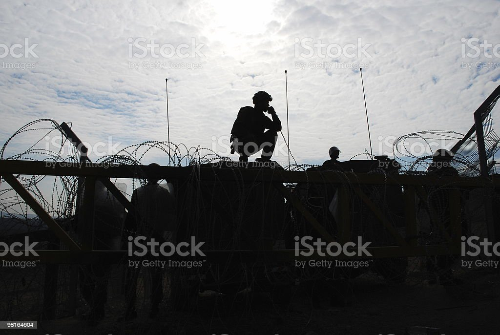 Military Silhouette stock photo