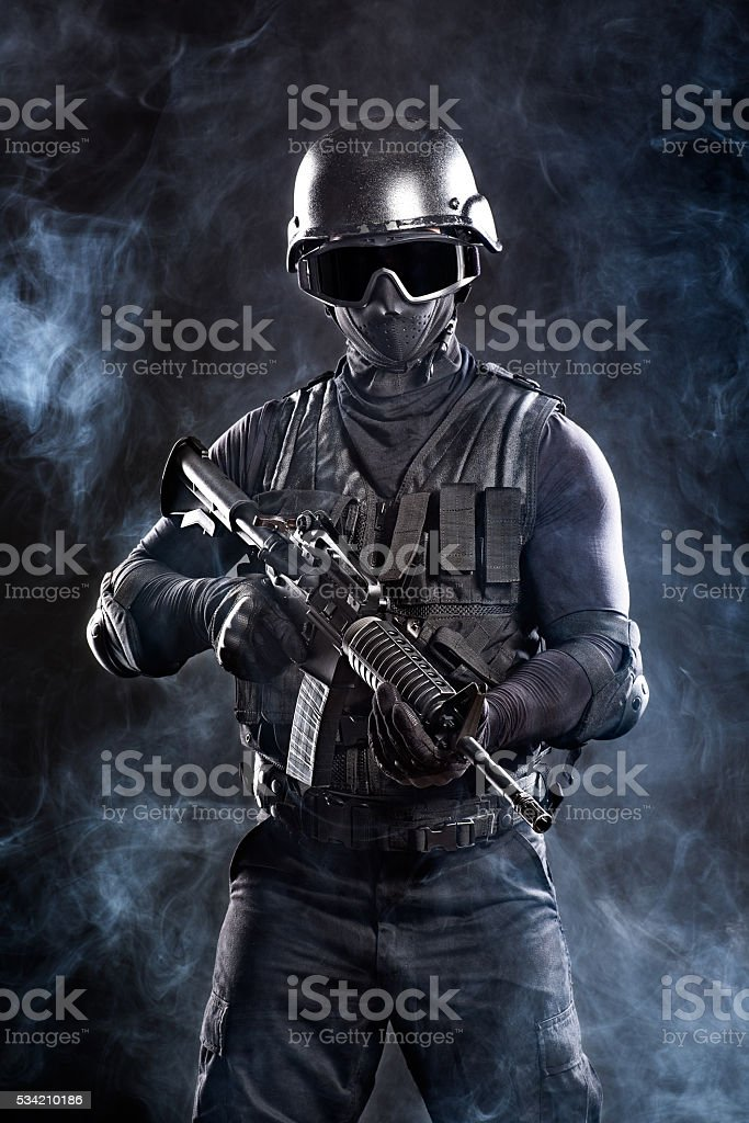 Military soldier stock photo