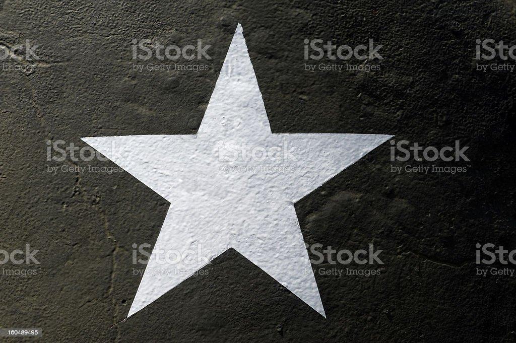 Military star stock photo