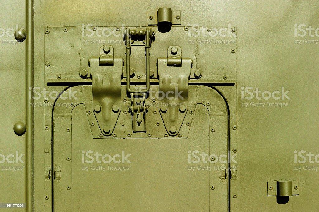 Military steel bodywork stock photo