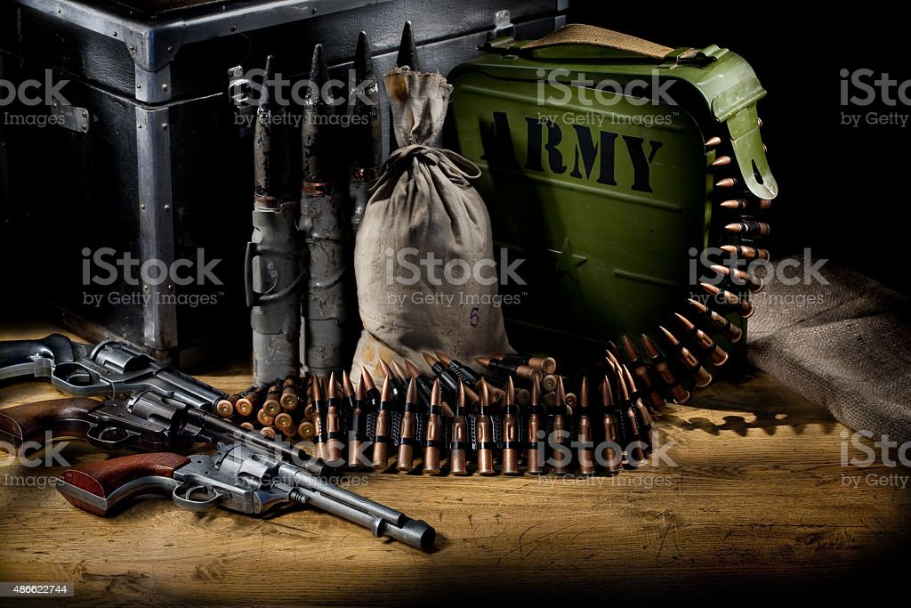 Military Still Life stock photo