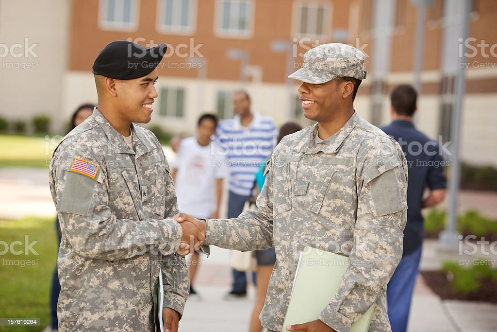 ROTC Military students stock photo