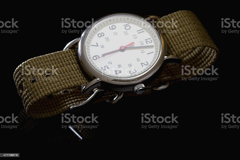 Military style watch royalty-free stock photo