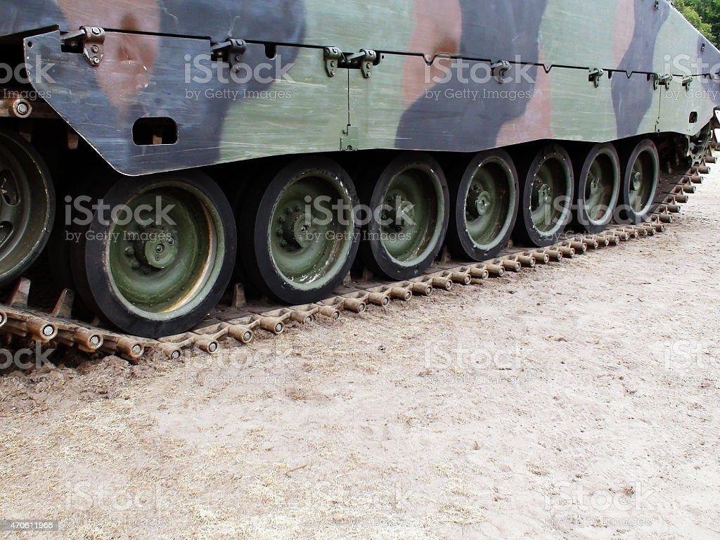 Military Tank Chain stock photo