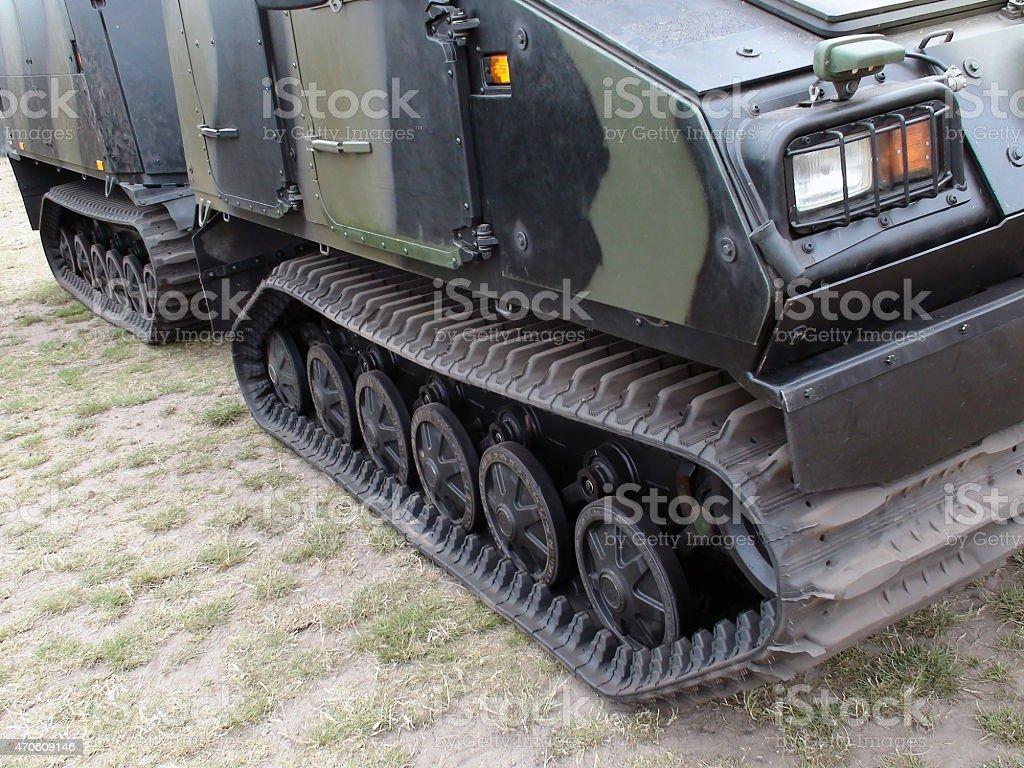 Military Tank Treads stock photo