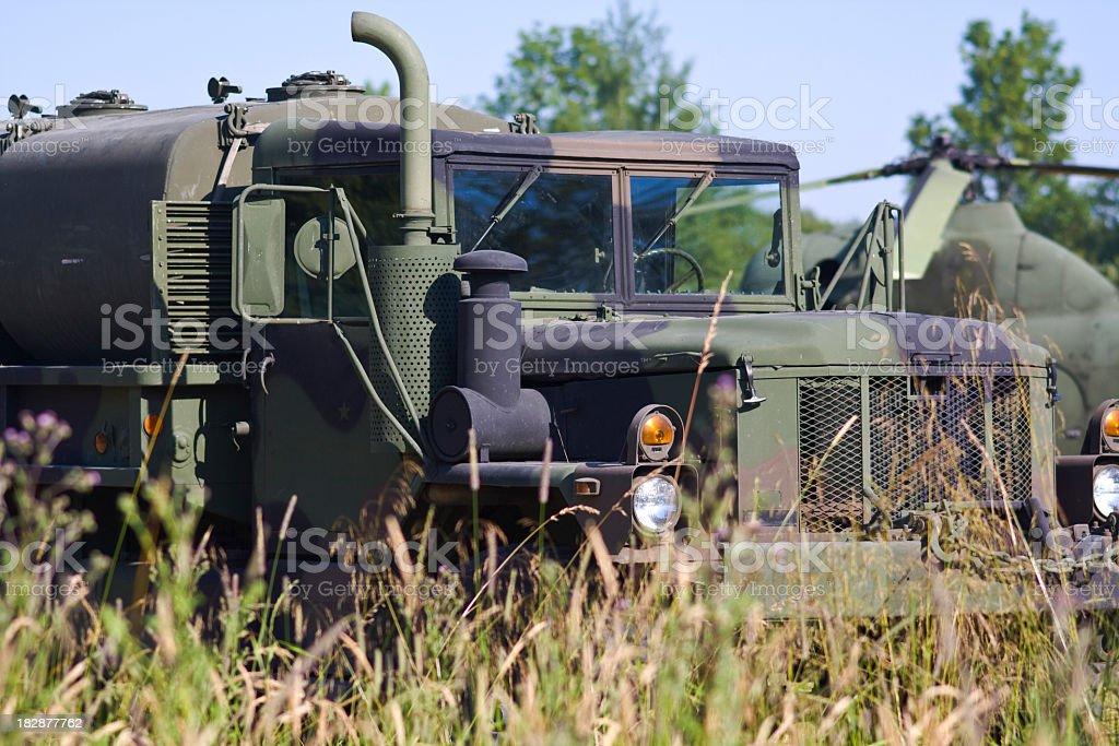 Military tanker truck stock photo