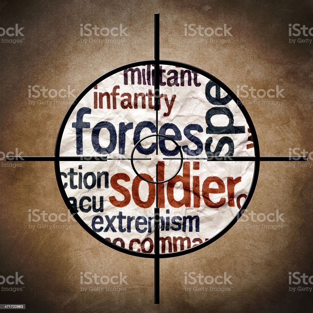 Military target royalty-free stock photo