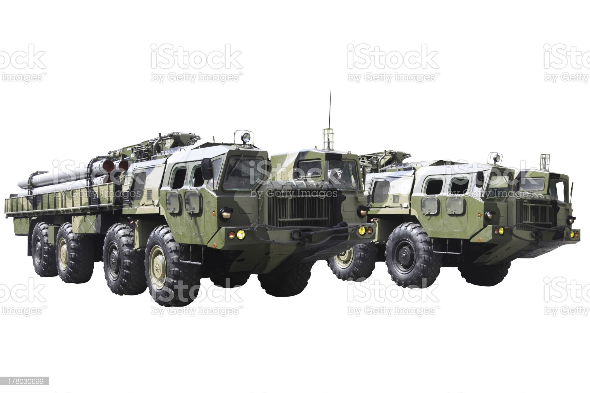 Military technics. Isolated royalty-free stock photo
