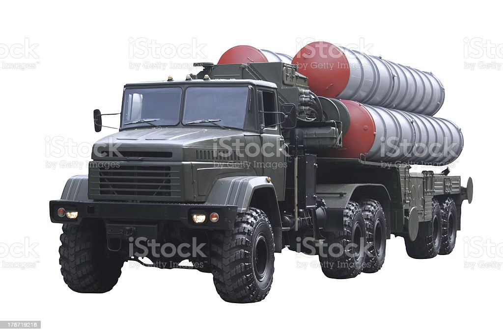 Military technics. Isolated stock photo