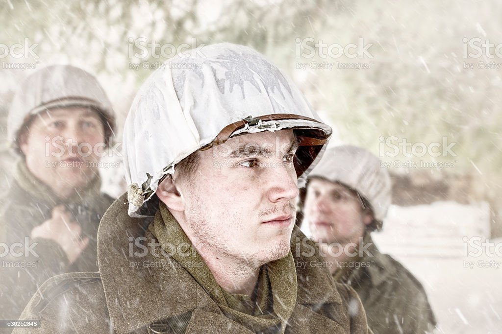 WWII US Military - The Role of Leadership stock photo