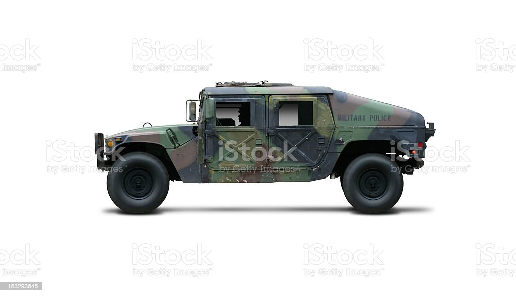 Military themed toy car for children stock photo