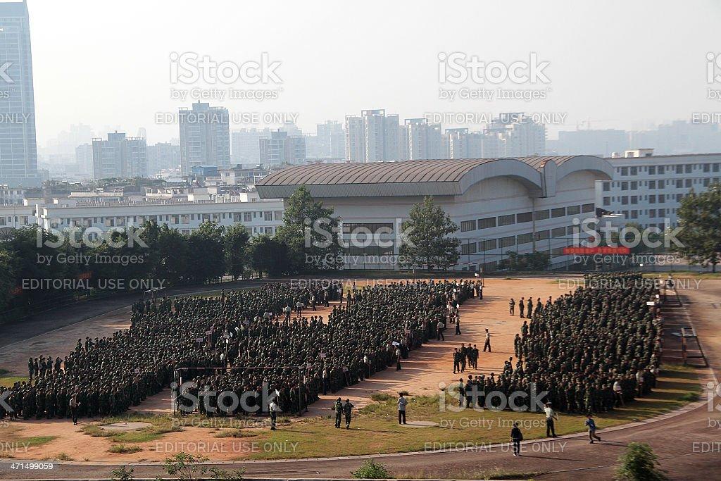 Campo di allenamento militare, Asia foto stock royalty-free