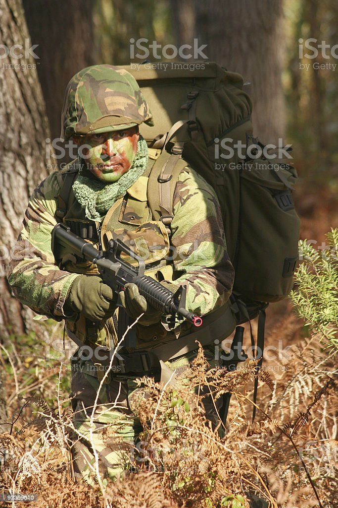 Military training combat royalty-free stock photo
