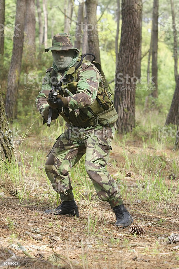 Military training combat stock photo