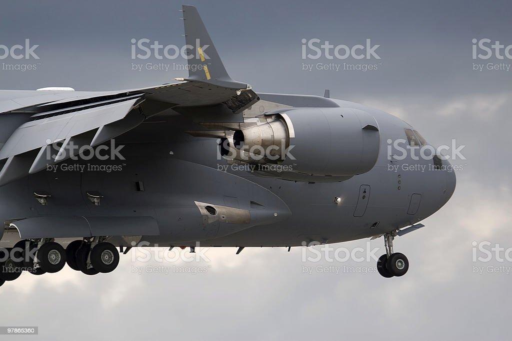 Military Transport Plane stock photo