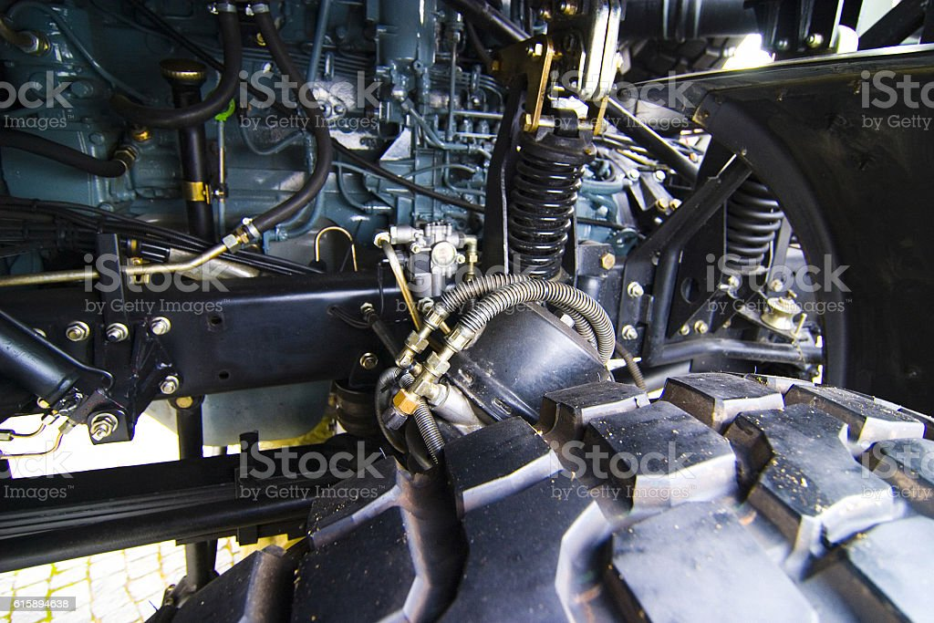Military truck detail stock photo