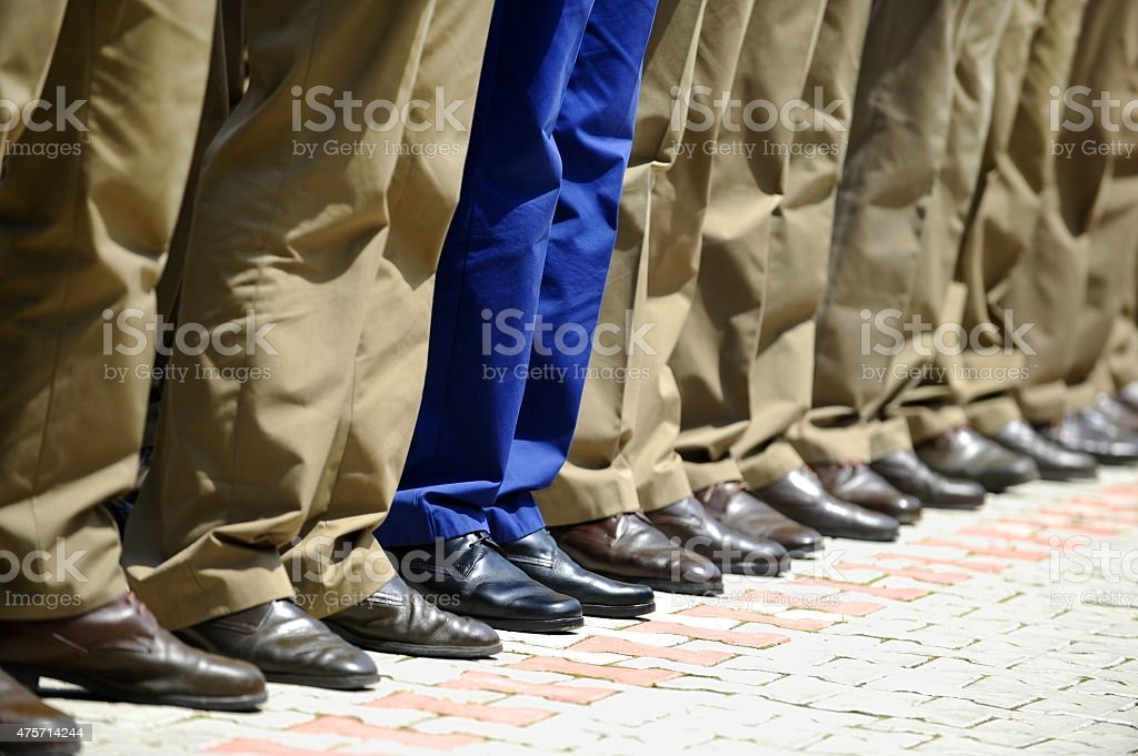 Military uniform detail stock photo