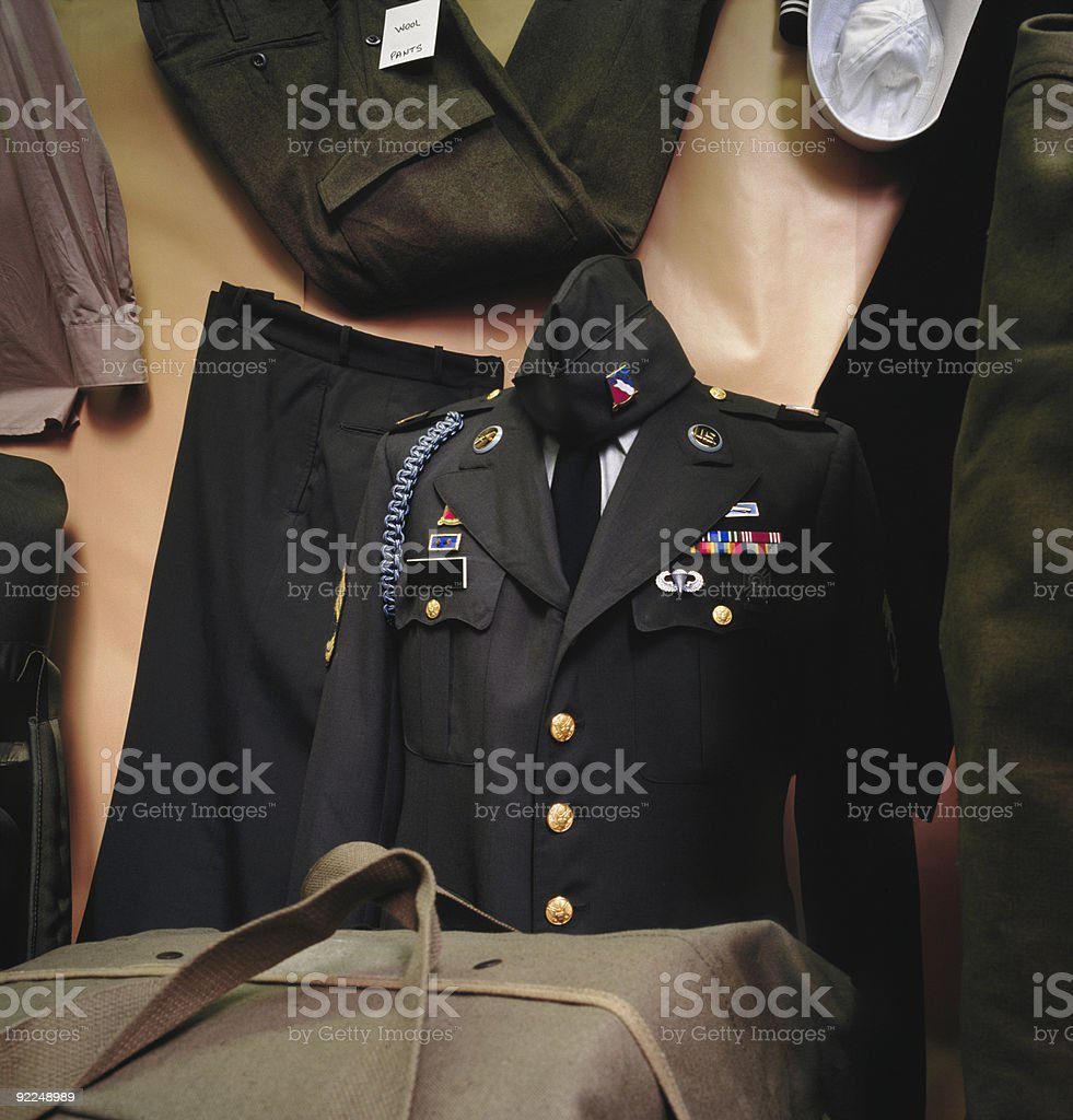 Military Uniforms stock photo