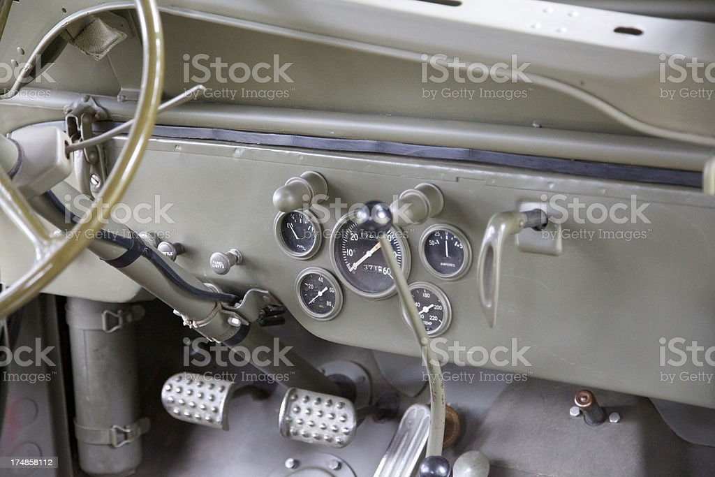 WWII military vehicle royalty-free stock photo