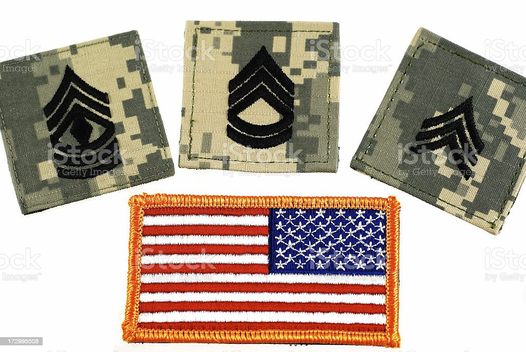 US Military Velcro Insignia and Flag royalty-free stock photo