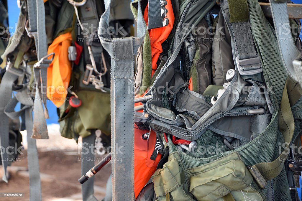 Military vests background stock photo