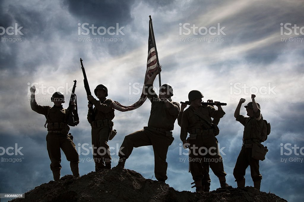 Military Victory stock photo