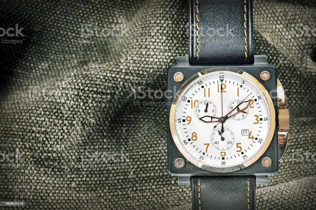 military watch stock photo