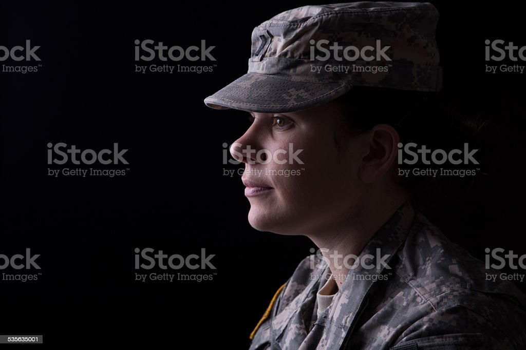 Military woman stock photo