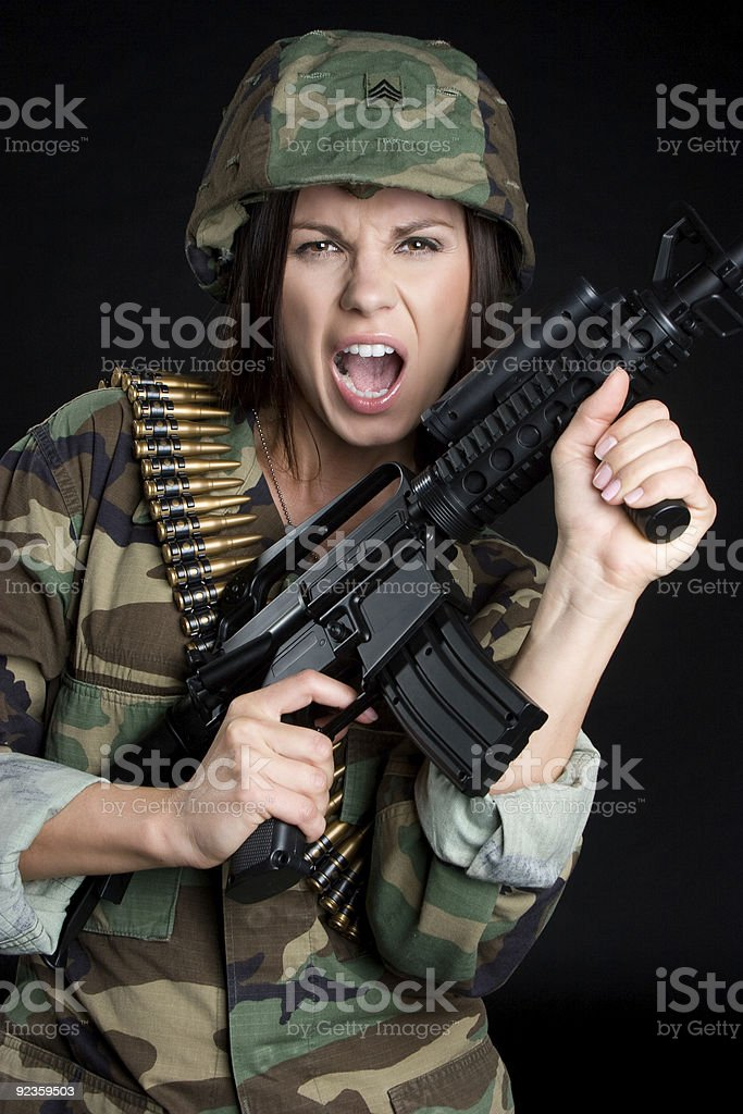 Military Woman royalty-free stock photo