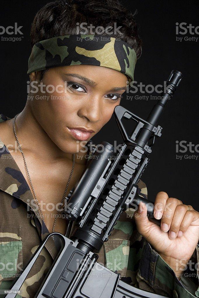 Military Woman royalty-free stock photo
