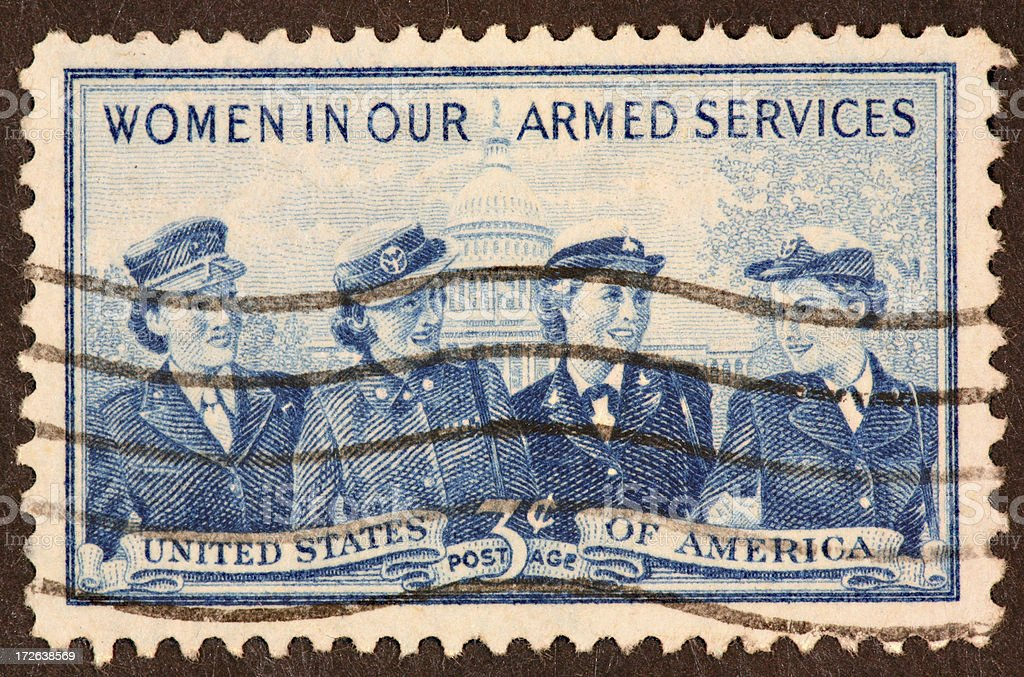 military women stamp royalty-free stock photo