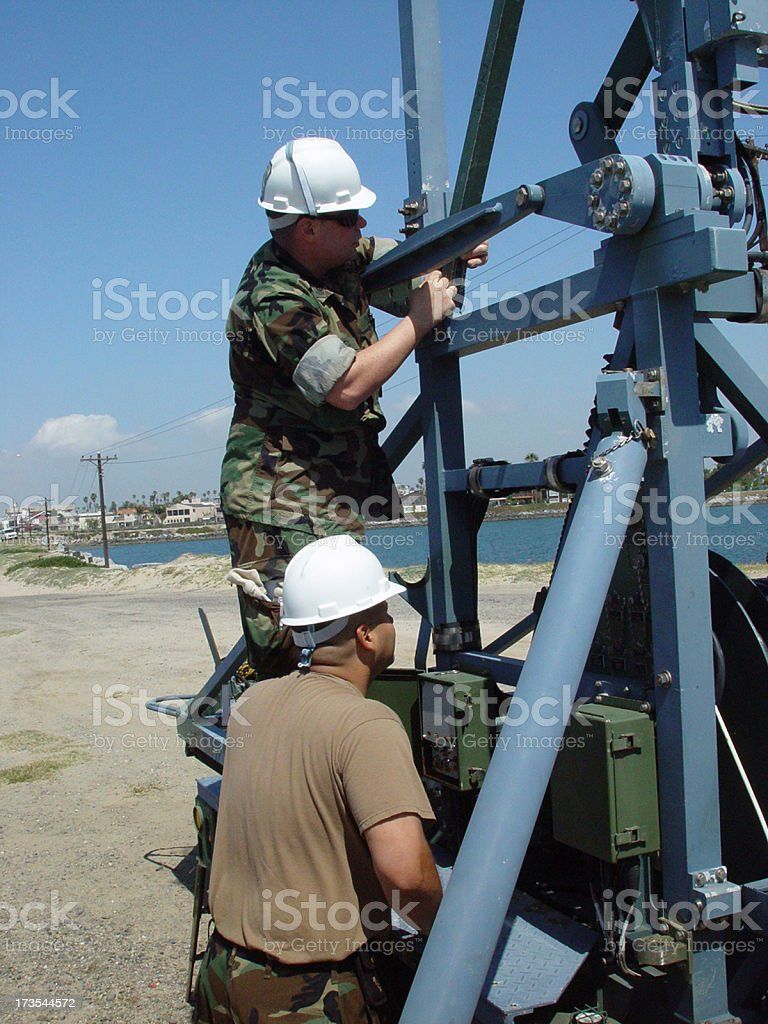 Military Work stock photo