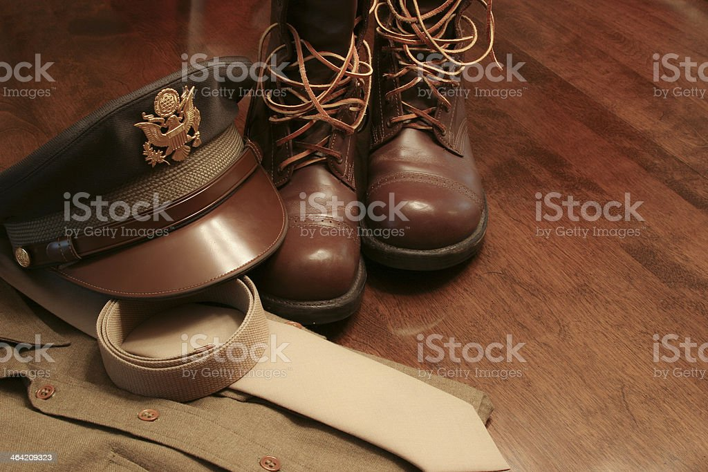 Military: World War II Army Officer's Uniform. royalty-free stock photo