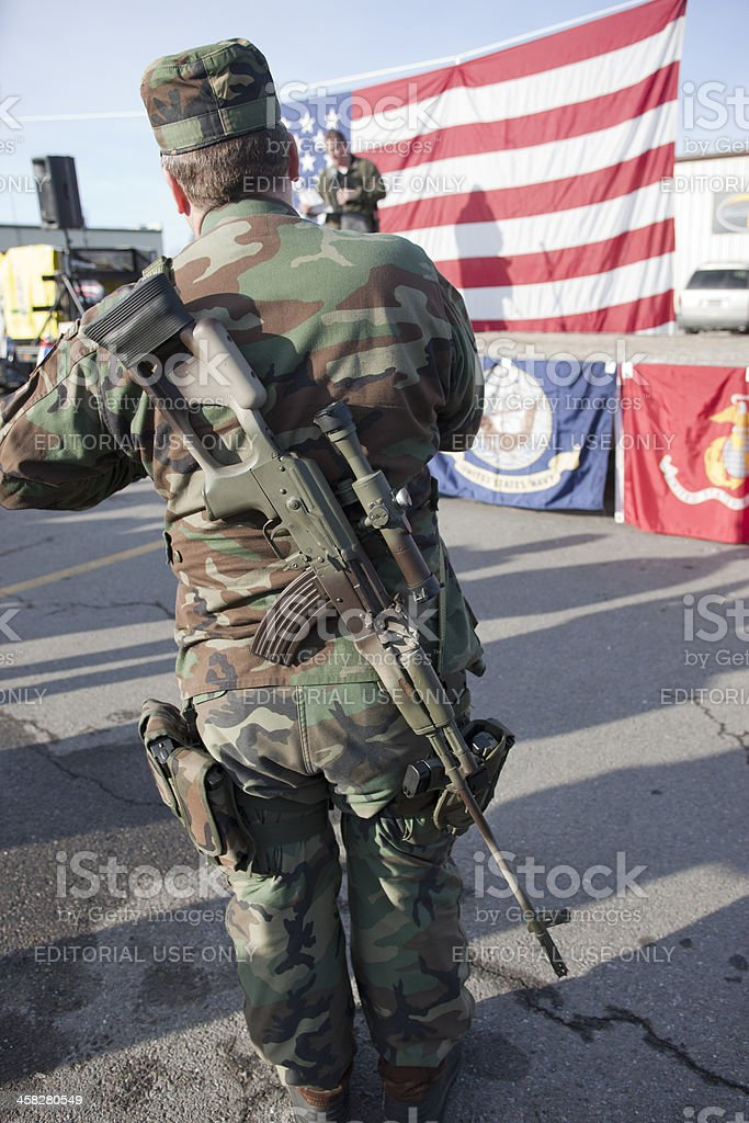 Militia for freedom. royalty-free stock photo