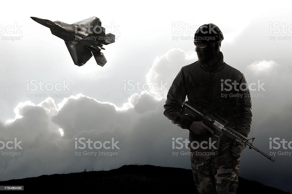 Militia of the New Millenium stock photo