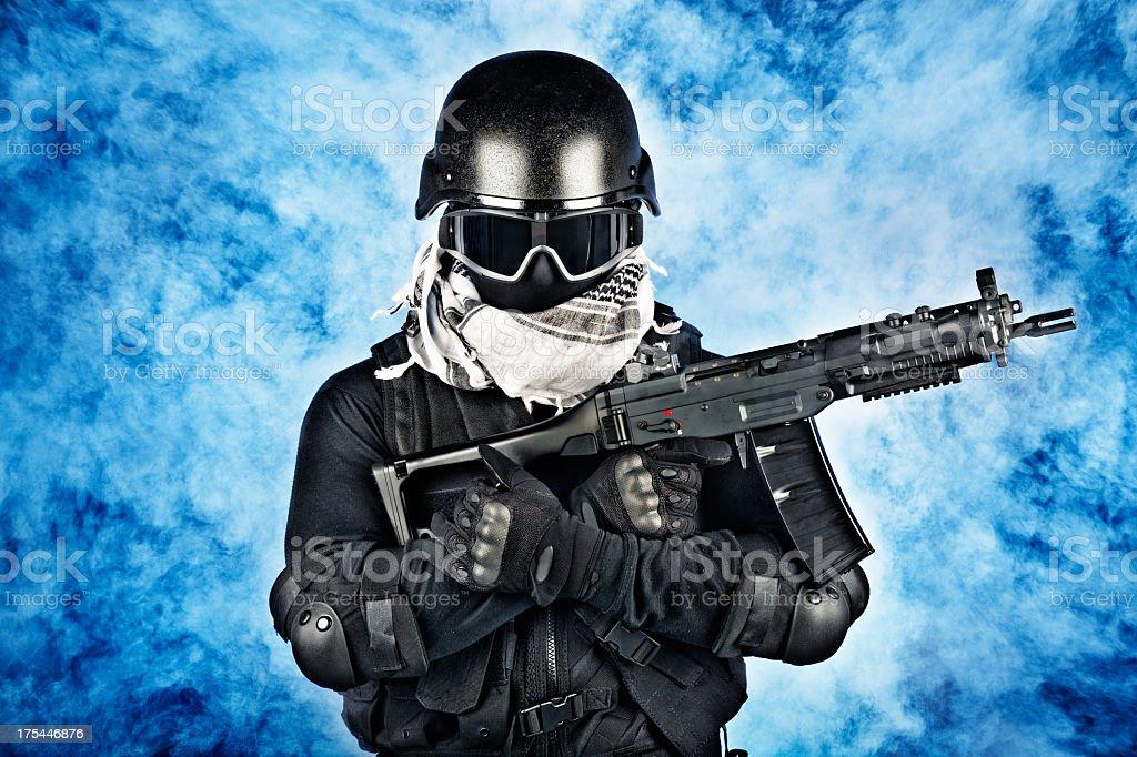 Militia Soldier stock photo