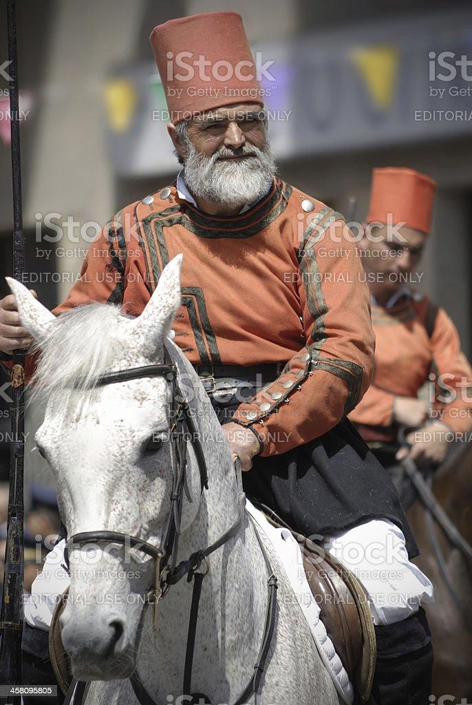 Miliziano di Sant'Efisio stock photo
