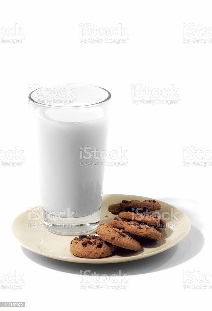 Milk & Cookies royalty-free stock photo