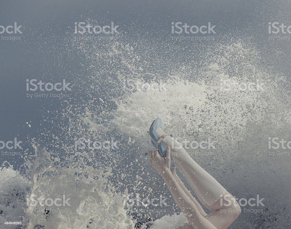 Milk and Blue stock photo