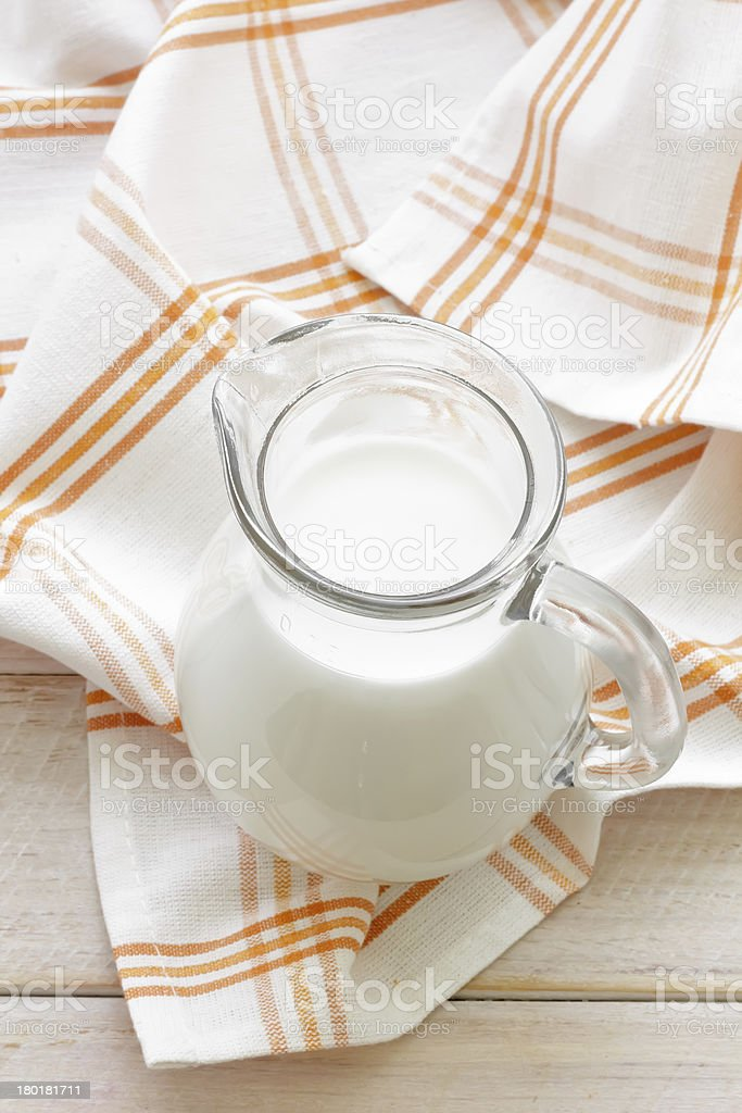 Milk and buns royalty-free stock photo